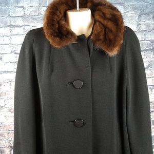 Gus Meyer Mink Collar Full Length Coat XL